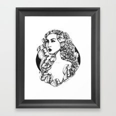Flora (Line Art) Framed Art Print