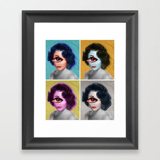 LizT Mix Collage x4 Framed Art Print