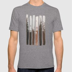 Into The Wild Mens Fitted Tee Tri-Grey MEDIUM