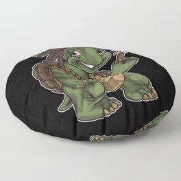 Weed Smoking Turtle   Cannabis THC CBD Rasta Floor Pillow
