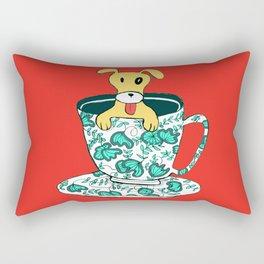 Dinnerware Sets - puppy in a teacup Rectangular Pillow