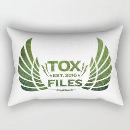 Tox Files - Green on White Rectangular Pillow