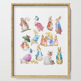 Tales of Peter Rabbit  characters Beatrix Potter Serving Tray