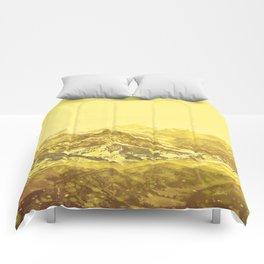 Mountains Yellow Comforters
