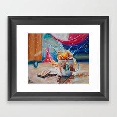 Coffee Splash! Framed Art Print