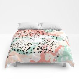 Phoebe - abstract painting minimal gender neutral trendy nursery decor home office art Comforters