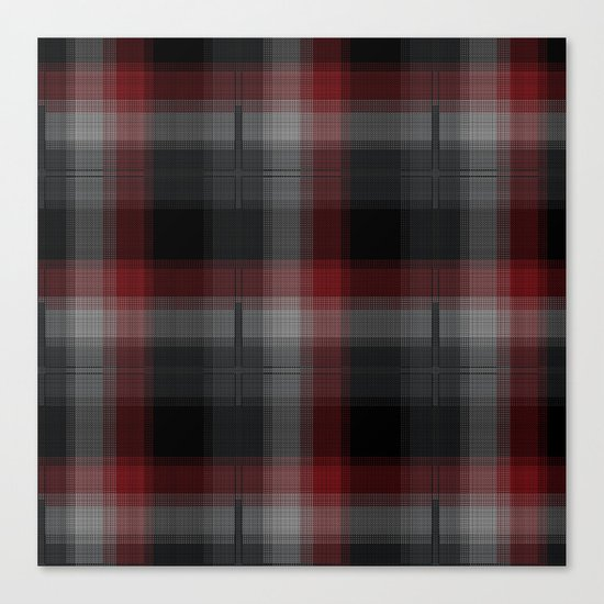 Black, Red, Lumberjack Plaid Canvas Print