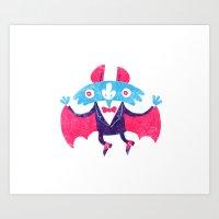 bat Art Prints featuring Bat by David Fernández Huerta