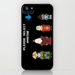 Avatar Selection Screen iPhone Case