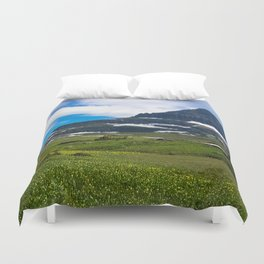 Logans Pass, Glacier National Park Duvet Cover