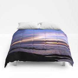 Feathered Clouds at Sunset Comforters