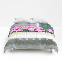 Geraniums - Another View Comforters