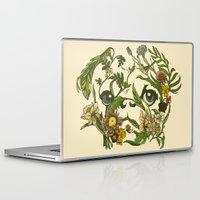 huebucket Laptop & iPad Skins featuring Botanical Pug by Huebucket