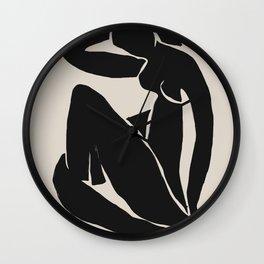 Black Nude Woman  Wall Clock