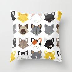 Cats, Cats, Cats Throw Pillow