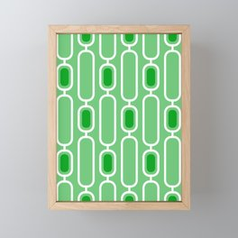 Green Apple - Retro 50s Geometric Pattern Framed Mini Art Print