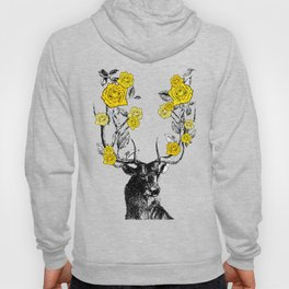 The Stag and Roses | Yellow Hoody