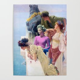 lorde in 'a coign of vantage' by lawrence alma-tadema, 1912 Poster