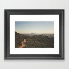 Griffith Park Skyline   Los Angeles Framed Art Print