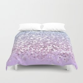 Sparkly Unicorn Lilac Glitter Ombre Duvet Cover