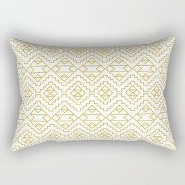 Boho Campfire - Gold Rectangular Pillow