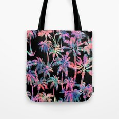 Maui Palm {Black} Tote Bag
