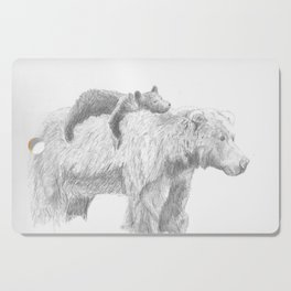 Mama and Cub Cutting Board
