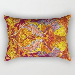 Lush Reds & Yellows Rectangular Pillow