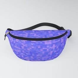 Geometric pattern with colorful triangles and squares Fanny Pack