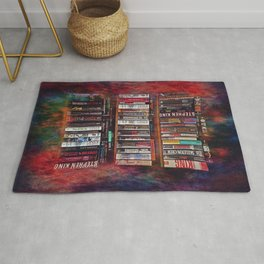 Stephen King Books on Shelves Rug