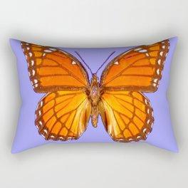 LILAC PURPLE MONARCH BUTTERFLY PATTERN Rectangular Pillow
