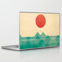 pin up Laptop & iPad Skins featuring The ocean, the sea, the wave by Picomodi