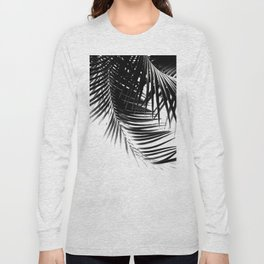 Palm Leaves Black & White Vibes #1 #tropical #decor #art #society6 Long Sleeve T-shirt