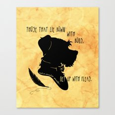 Those That Lie Down With Dogs, Get Up with Fleas Canvas Print