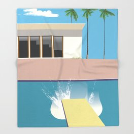 Swimming Pool, Throw Blanket
