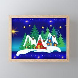 Home for the Holidays Picture,Christmas and Holiday Fantasy Collection Framed Mini Art Print