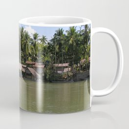 Village on the banks of the Mekong River, Laos Coffee Mug