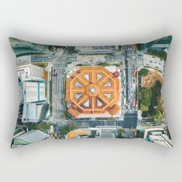 Aerial Cityscape View (Color) Rectangular Pillow