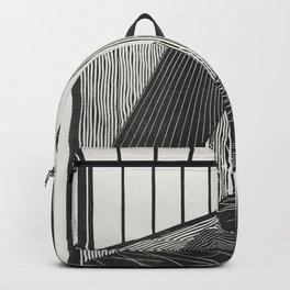 Heron illustration Backpack