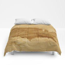 United States USA Vintage Map Comforters