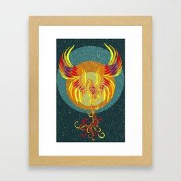 Fire Phoenix Framed Art Print