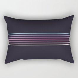 Pink Colored Retro Stripes Rectangular Pillow