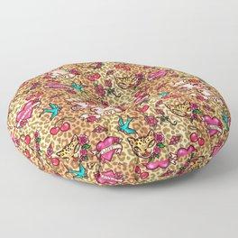 Lady Leopard Floor Pillow