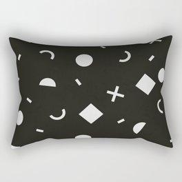 Black & White Memphis Pattern Rectangular Pillow