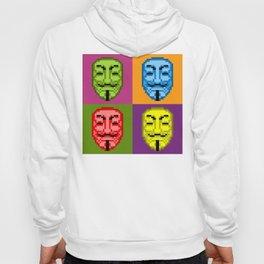 Pop Art Pixel Fawkes Hoody