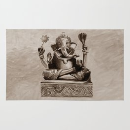 Ganesha - sepia Rug