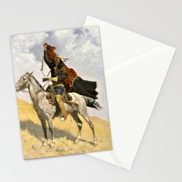 Frederic Remington - The Blanket Signal - Digital Remastered Edition Stationery Cards