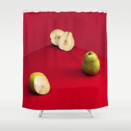Damaged Pears Shower Curtain