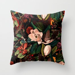 FLORAL AND BIRDS XIV Throw Pillow