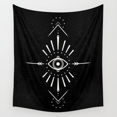 Evil Eye Monochrome Wall Tapestry